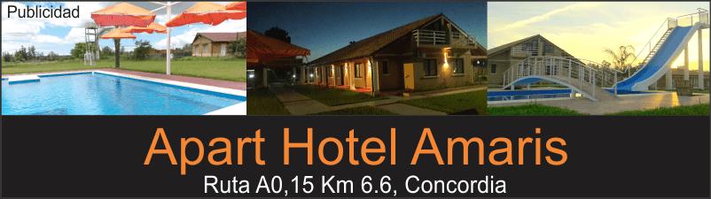 Publicidad termas de Concordia apart hotel amaris